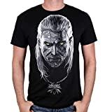 Cotton Division T-Shirt The Witcher 3 – Geralt von RIV Gr. XL, Schwarz