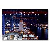 CALVENDO Tela in Tessuto di Alta qualità, 90 x 60 cm, Formato Orizzontale Container-Terminal Burchardkai di cap San Nikolas, Stampa su Tela di Matthias Voss