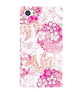 Floral Design 3D Hard Polycarbonate Designer Back Case Cover for Sony Xperia Z5 Compact :: Sony Xperia Z5 Mini