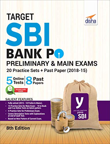 Target SBI Bank PO Preliminary & Main Exam - 20 Practice Sets + Past Papers (2018-15)