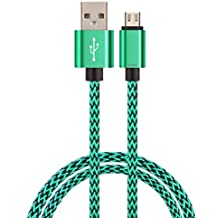 ULTRICS® 3ft 1M Micro USB Cable with High Speed Data and Durable Metal Shell, Nylon Braided & 10000+ Bend Lifespan for Samsung Galaxy, Nokia, Nexus, LG, Motorola, Android Smartphones