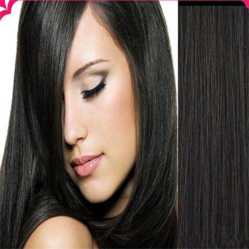 Dream Queen® 100 g 50,8 cm droite Trame de cheveux Grade 6 A brésiliens vierges Cheveux 100% Remy Cheveux humains trames Body Wave extension de cheveux non traités pour femme (50,8 cm 100 g # 1B NOIR Naturel)