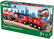 BRIO brandsläckning, tåg, röd, 24.2 x 4.9 x 3.4