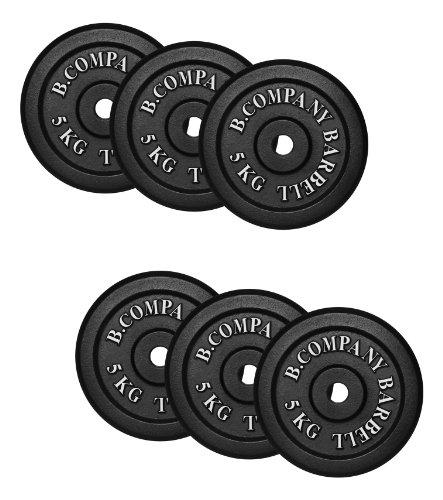 Guss 30,0Kg (6x5,0) Hantelscheiben Hantel Gewichte Scheiben Hanteln 30/31mm