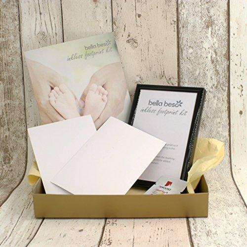 Preisvergleich Produktbild Baby Fußabdruck-Set Geschenk Set mit 15,2x 10,2cm (15x 10cm) Rahmen schwarz
