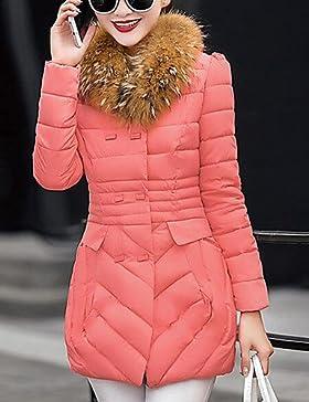 TT & ShangYi largo acolchado de mujer, Abrigo Simple romántico moda ciudad para USCIRE Casual liso otro polipropileno...