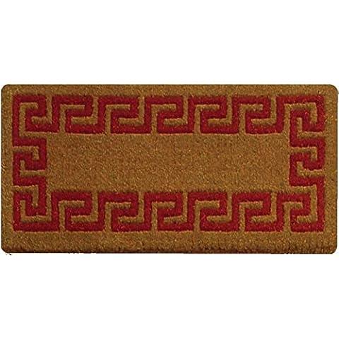 Zerbinando - zerbino Stoccolma greca cm. 50 x 100 rosso