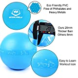 Exercise Ball Yoga Chair 65 cm Anti Burst Tested Supports 2000lbs Anti-Slip for Fitness Stability Balance Core Strength Birthing Pilates for Home Gym Office Including Workout Icon + Quick Pump Professional Quality Design