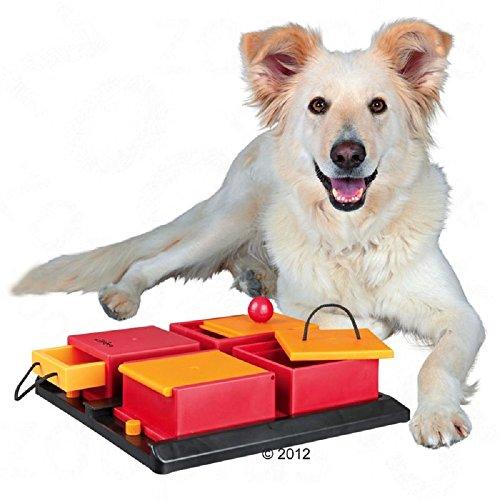 Juguete interactivo de cajas para perro