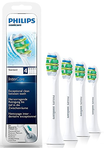 Philips Sonicare HX9004/07 Original InterCare Aufsteckbürsten Standard, 4er Pack, weiß
