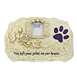 LiYue-Pet Necklace Cane Cat Memorial Stone Finestra Portafoto Souvenir for Animali Domestici può Mettere Foto Tombstone Garden Tomba disposta all'Interno Forniture for Animali Domestici all'aperto