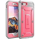 iPhone 7 Hülle, iPhone 8 Hülle, Supcase [Unicorn Beetle PRO] Outdoor Schutzhülle Stoßfest Handyhülle Case mit eingebautem Displayschutz und Gürtelclip für Apple iPhone 7 / iPhone 8, Pink/Grau