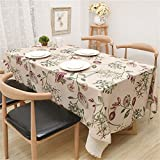 HJHET Einfache moderne Bettwäsche square Blumen frische kleine Tisch Tischdecke, 140 * 140 cm