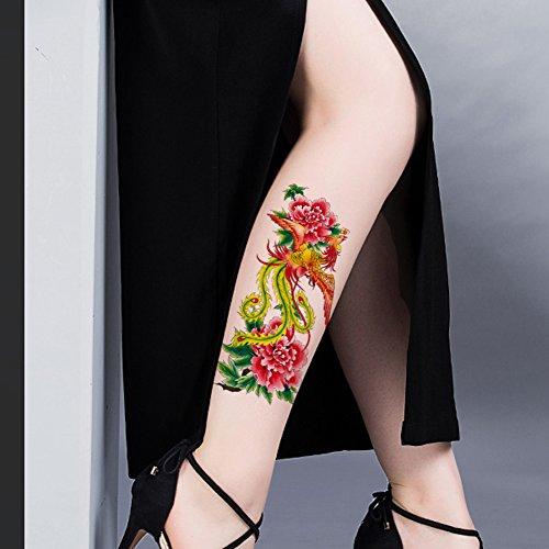 TAFLY Phoenix Falso Tatuaggi Temporanei Impermeabile Colorato Corpo Sticker 5 Fogli