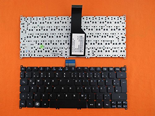 kompatibel für Acer Aspire V5-121, V5-123 Tastatur - Farbe: schwarz - Deutsches Tastaturlayout - Acer V5-121 Aspire