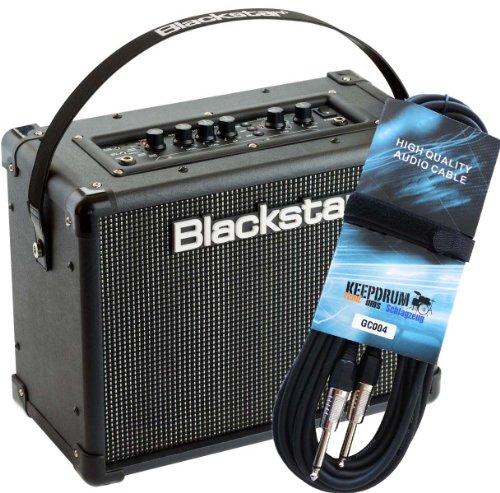 Blackstar ID Core 20 V2 Stereo Combo Gitarren-Verstärker + keepdrum Gitarrenkabel GC-004 6m