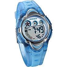 78237373bdc9 JewelryWe Relojes para Niños Niñas Reloj Deportivo Digital Para Aire Libre  Reloj Infantil De Colores Transparente