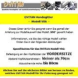 OVITAN Hundegitter fürs Auto 6 Streben universal zur Befestigung an den Kopfstützen der Vordersitze – für alle Automarken geeignet – Modell: V06 - 3