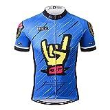 Thriller Rider Sports Herren Rock Music Blue Sport & Freizeit MTB Fahrradbekleidung Radtrikot Medium