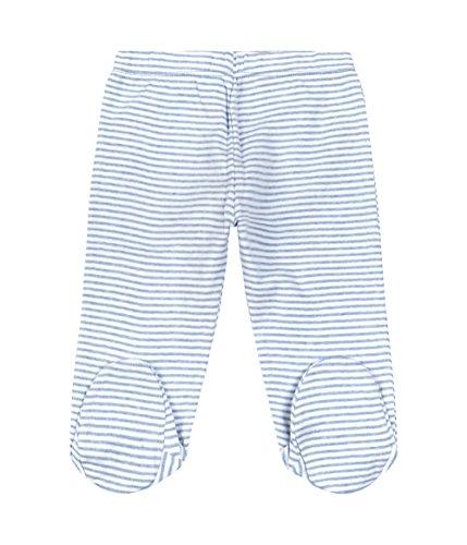 Sense Organics Baby-Jungen Hose CESAR Babyhose mit Füßchen, Gestreift, Gr. 56 (Herstellergröße: 0M), Blau (blue marl stripes ESS 290036)