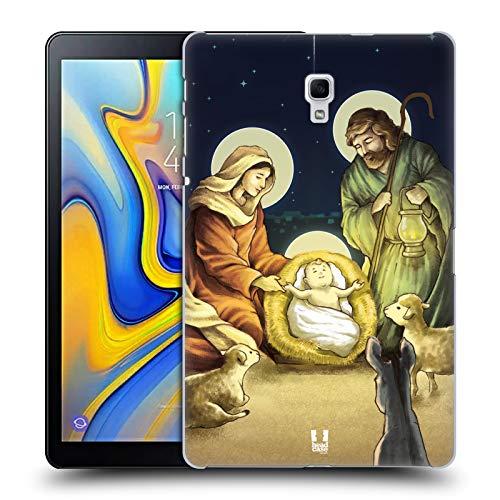 Designs Krippe (Head Case Designs Krippe Weinachten Krippe Harte Rueckseiten Huelle kompatibel mit Samsung Galaxy Tab A 10.5 (2018))