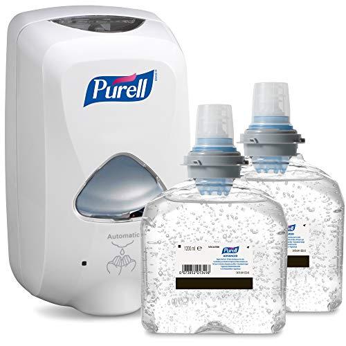 Flüssigkeit Erste-hilfe-kit (PURELL TFX Starter Kit inkl. 2 Refills - Berührungsloser Desinfektionsmittelspender zur Händedesinfektion - mit 2x 1200ml Nachfüllpatrone PURELL Händedesinfektionsmittel (weiß))
