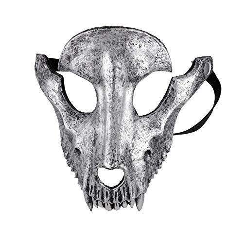 Toten Der Tag Festival Kostüm - LUOSI Mascaras Disfraces Festival Tag der Toten Halloween Party Maskerade Gruseliger Horror Terror Unheimlich Kostüm Schädel Maske (Color : B)