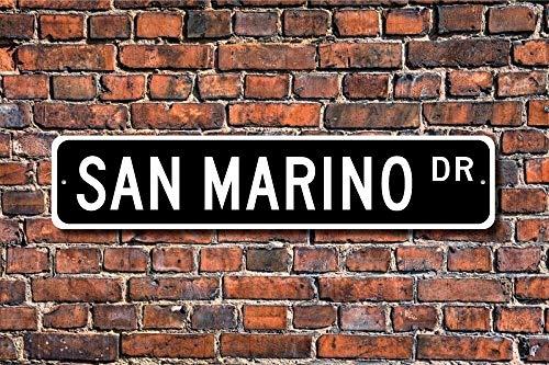 CHI Metall Schild Post San Marino Geschenk Schild Souvenir San Marino Native San Marino Urlaub Momento Plakette Wandaufkleber Home Dekoration Street Schild