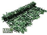 EasyHedging® Roll-Efeuhecke, künstlich, verschönert unschöne Bereiche & sorgt im Handumdrehen für Sichtschutz, Dunkelgrün