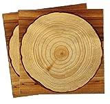 20 Papierservietten im * Holz Design * für Party und Geburtstag von DH-Konzept // Servietten Napkins Feier Fete Set Baumstamm Wood