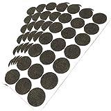 105 x almohadillas de fieltro | Ø 30 mm | marrón | redondas | Patas de muebles adhesiva de la máxima calidad de Adsamm