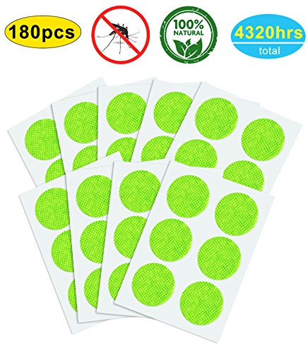 YSense Repellente Patch per zanzare 180 pz, Naturale e non Tossica, lunga durata, Applicare semplicemente su pelle e Vestiti, disponibile per Adulti, e Animali