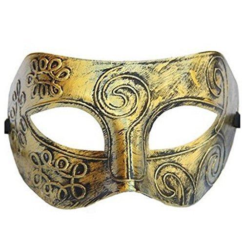 Herren-Augenmaske, Silberfarbig, Griechisch/Romanisch, Als Kostüm-Zubehör Und Für Maskenball - Gold, (Maskenball Herren Kostüme)
