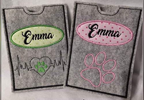 Hülle für den Heimtierausweis mit NAMEN für Hund oder Katze/Heimtierausweishülle/Haustier/Hundezubehör/Impfpass/Ostern Geschenk
