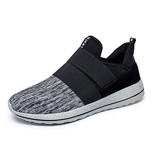 GOMNEAR Homme Chaussures de course Gym athlétique Sneakers Sport En Marchant Chaussures Poids Léger Formateurs gray