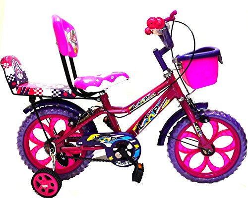 Loop Cycles Princess 14 Inches Pink Purple Bicycle For 3 to 5 Age Group