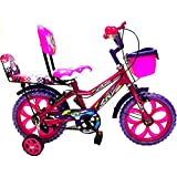 Loop Bikes Princess 14 Inches Pink Purple Bicycle For 3 To 5 Age Group