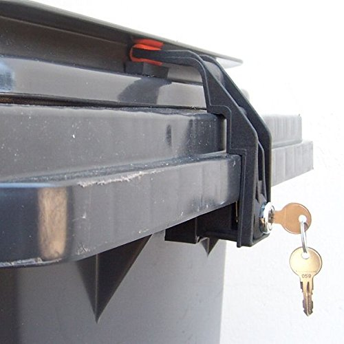 *CTS Mülltonnenverschluss Mülltonnenschloss 60 bis 240 Liter mit Griffleistendeckel (gleichschließend)*
