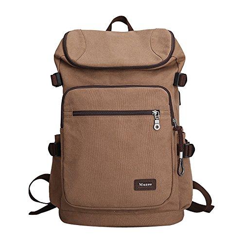 Imagen de eshow bolso de  multifuncional de tela de lona para hombres  de senderismo caffé