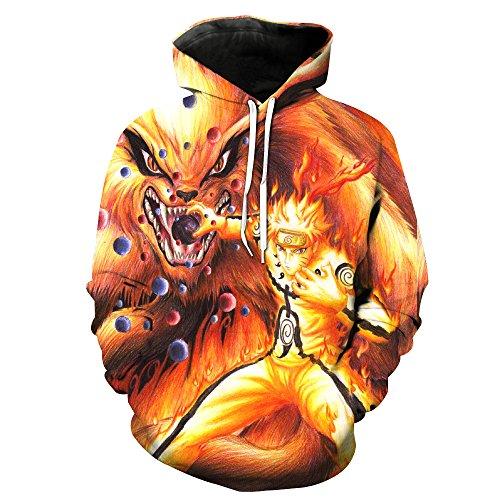 Winter Wonderland-sweatshirt ([Jandz] Unisex Hoodie Naruto: Donner, 3D Drucken, Otaku, Cosplay, Manga, anime-Design (Asian (3XL) → EU (XL), Style- 724))