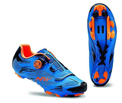 Northwave Herren Scorpius 2Plus Bicicletta Scarpe blau / orange (953)