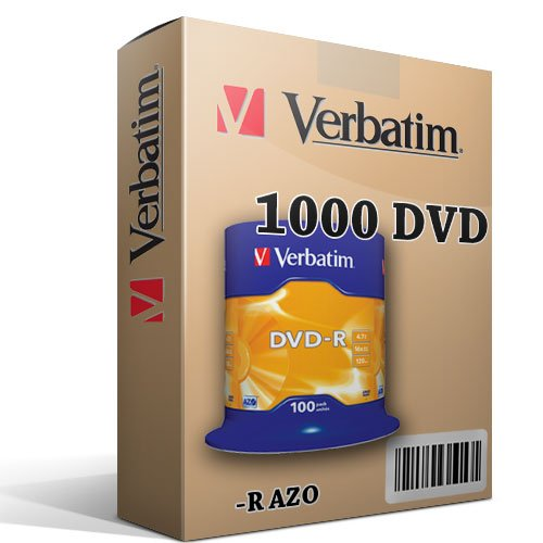 Preisvergleich Produktbild 1000DVD Rohlinge Verbatim 100% Advanced AZO + Protection in Cake Box