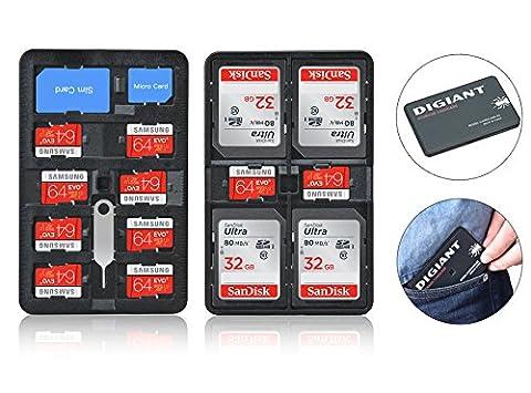 digiant Carte mémoire étui de rangement léger Support carte SD