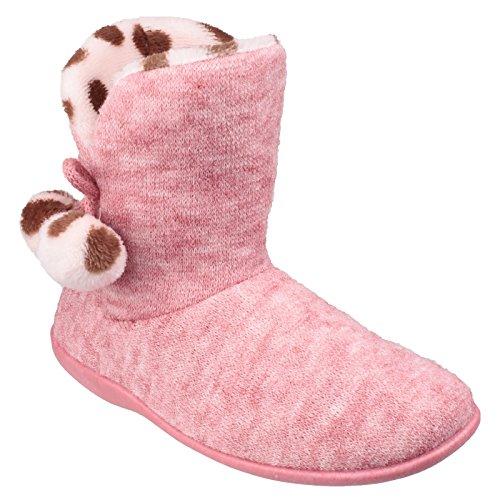 Pantofole con Limoges Pompon a Donna Rosa Stivaletto Mirak UC85qxTw