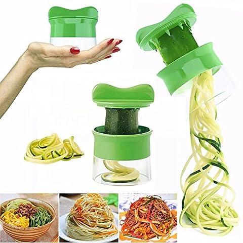 HCFKJ Spiral GemüSe Obst Slicer Cutter Reibe Twister Peeler KüChenhelfer Werkzeuge