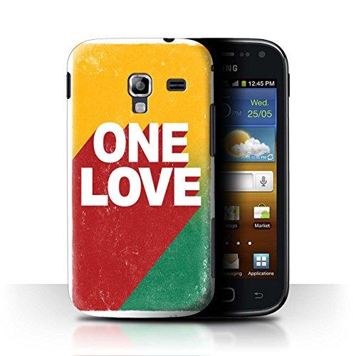 Stuff4 Custodia/Cover/Caso/Cassa Rigide/Prottetiva Stampata con Il Disegno Arte Rasta Reggae per Samsung Galaxy Ace 2/I8160 - One Love Manifesto