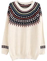 Molly Las Mujeres De Suéter De Cuello Redondo De Impresión Suéter