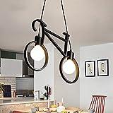 #6: Citra Modern Retro Iron Bicycle Shape Pendant Lamp E27 Holder AC 110-240V Foyer Coffee House Dining Room Bike Lighting Fixture