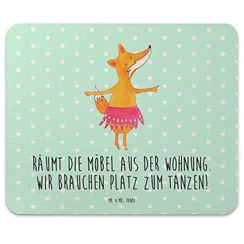 spad Druck Fuchs Ballerina - 100% handmade in Norddeutschland - Motiv, Geburtstag, Geschenk, Einladung, Mousepad, Arbeit, PC, Mouse Pad, Mauspad, Ballett, Gummi Natur Kautschuk, Druck ()