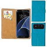 Nano Flip Handy Smartphone Tasche Hülle Case Cover Für Mobistel Cynus E8 - M Türkis Blau